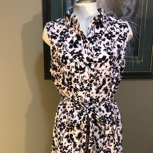 Banana Republic Floral Dress with tie belt